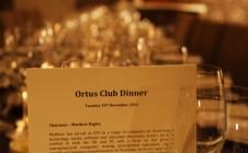 The Ortus Club Dinner- 19/11/13